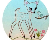 """hand embroidery pattern """"oh deer"""""""