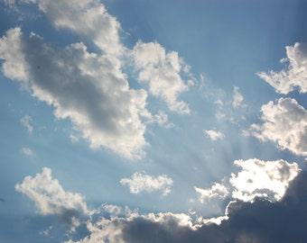 "Sky Photograph- ""Hello Sun"""