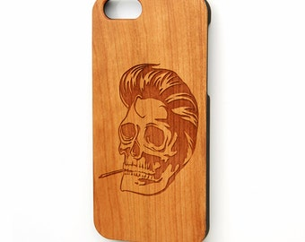 iPhone 6s plus case, wood iPhone 6s case, iPhone 5 case, wood iPhone case, Skull  iphone case, Galaxy S6 case, Free Shipping
