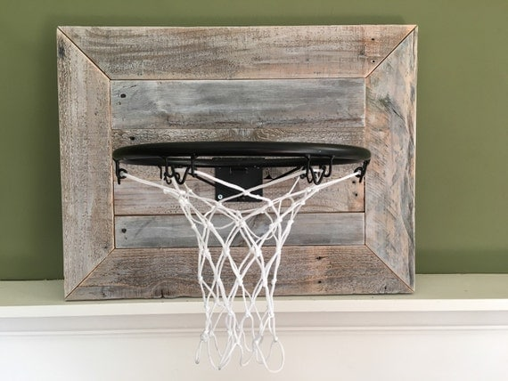 Rustic reclaimed wood backboard with basketball by bourbonwood - Panier de basket mural ...