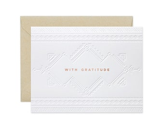 """Aztec """"With Gratitude"""" Greeting Card"""