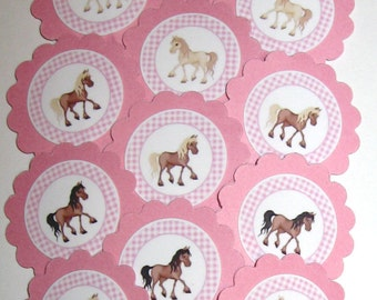 Horse Cupcake Toppers/Party Picks Item #825