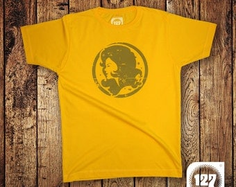 Men's T-shirt 'Lady Groove' – Yellow