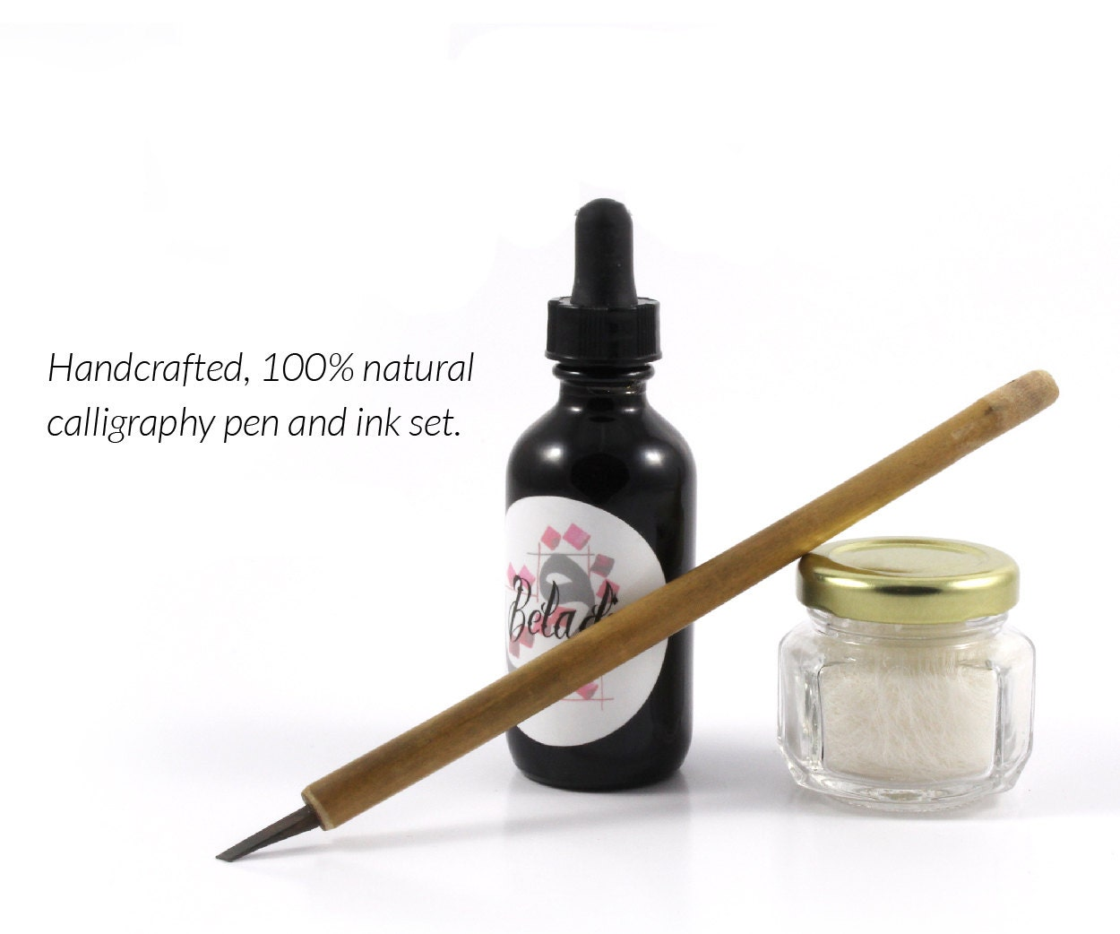 Calligraphy Pen Ink Set Bamboo Hand Made By