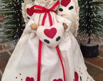 Vintage Angel Christmas Tree  Topper/Table Decoration