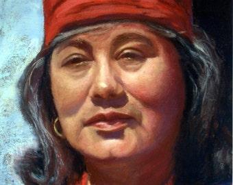 Portrait of Margarita, Custom Pastel Portrait, 16X20
