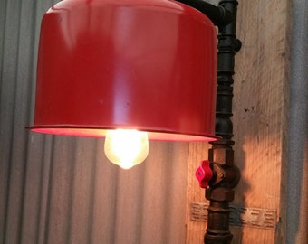 Steampunk Lamp Red Alert
