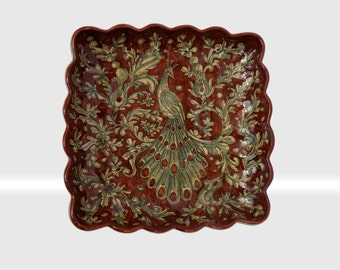 Art.112/ PR -Scalloped square plate