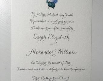 Hydrangea invitation *digital file only*