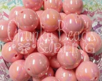 10pc. 20mm Pink AB Iridescent Beads