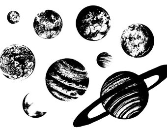 Planets -- Clear Stamps Set A7