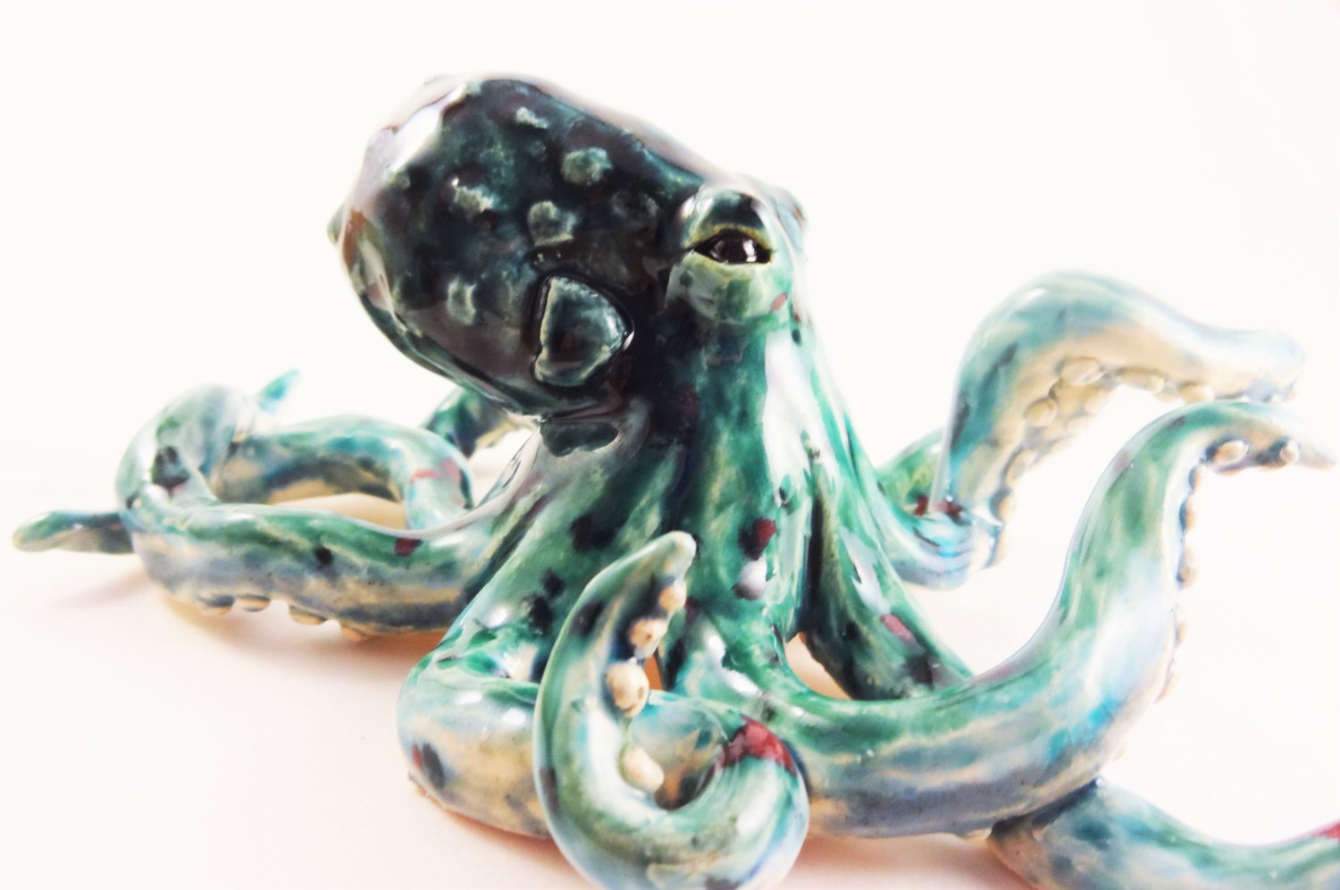 Green octopus aquarium decoration for Octopus fish tank
