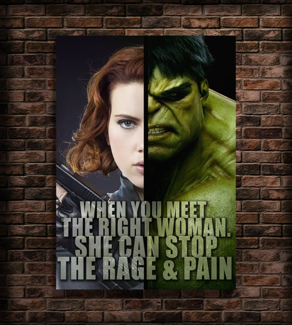 Hulk Quotes Amusing Items Similar To Avengers Favors Print Quotes Black Widow And Hulk