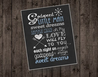 Nursery Wall Art: Godspeed Little Man by Dixie Chicks
