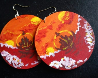 Gallifreyan Landscape Earrings