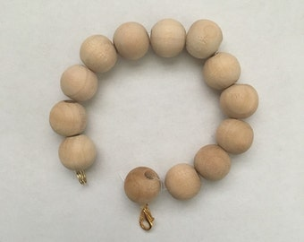 Summery Wood Bead Bracelet