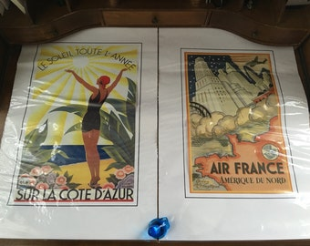 French Vintage Travel Posters