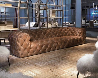 Luxurious Italian Full Hide Aniline / Gryzzly  Brown 40% OFF