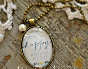 "Handcrafted ""Sunshine"" Necklace - Pearlsnjoy"
