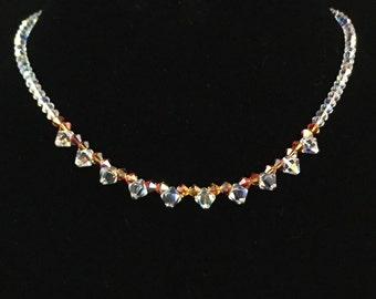 Swarovski orange necklace