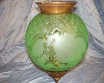 1940's Ceiling Mounted Globe Light Fixture