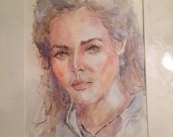 Original Water color portrait