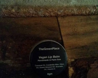 Vegan organic handmade lip balm 8g