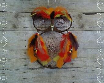 Fall Owl Dream Catcher