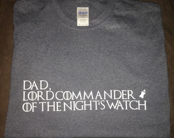 Game of thrones shirt, nights watch, jon snow, lord commander, custom shirt