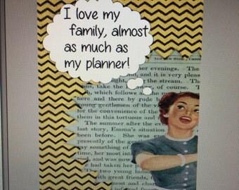 Retro Girl Thought Buble Custom Planer Dashboard ECLP Mambi Inkwell Press Filofax Kikki K Happy Life Planner
