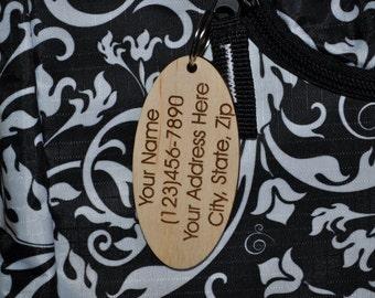 Luggage tags, custom wood luggage tags