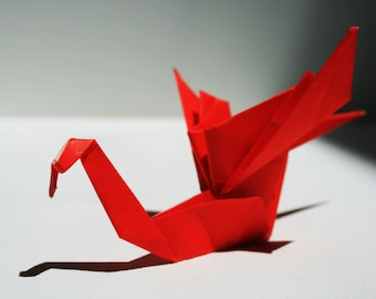 Origami Dragons // Folded Paper Art // Gifts // Party Favors // Wedding Favors