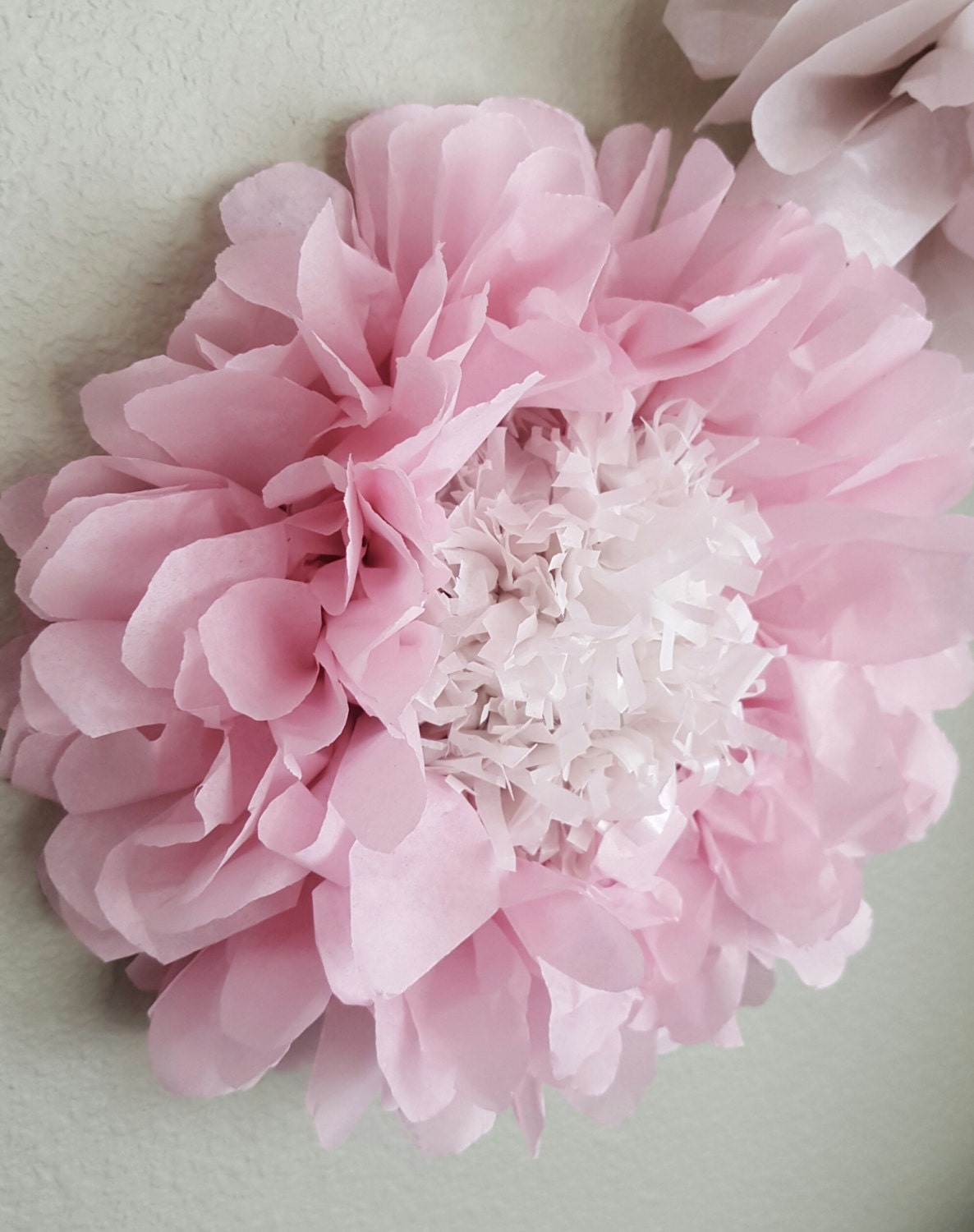 Wall Decor Tissue Paper : Tissue paper flowers nursery decor girl