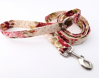 Floral Dog Leash, Dog Leash, Dog Leash, 5 foot leash, Flower Leash