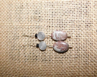 Picasso Jasper w/ Sterling Silver earrings
