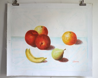 Fruit on White/  oil on Canvas