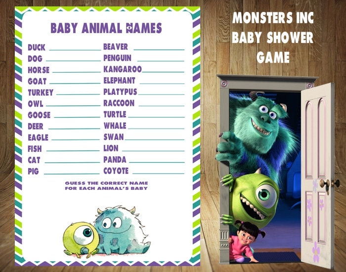 monsters inc baby shower game monsters inc baby by digitaldelites