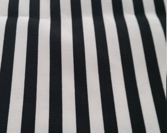 2 yard Black/White stripes Poly for dress/blouse/skirt and more