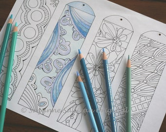 DYI Bookmarks, Coloring Bookmarks, Coloring for Adults, Bookmarks, Printable Bookmarks to Color, Kids Coloring Page, Gift Idea