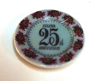 """Miniature """"25th Anniversary"""" Plate (CER031)"""
