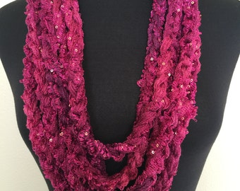 Crochet Chain Necklace Scarf , Great Easter Gift