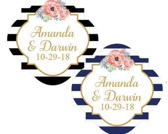 20 pcs Garden Wedding Personalized Stickers (PPD38)