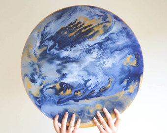 Fluid Acrylic Circle Painting
