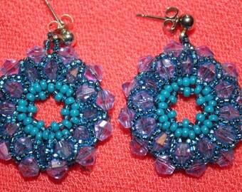 hand woven circular earrings