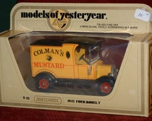 Models of Yesteryear Matchbox Colman's Mustard Delivery Truck