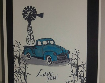 Antique truck Father's Day greeting card