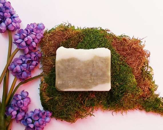 Non GMO Soap, Emerald Green Soap, Seaberry Seaweed Bath Bar, Cleansing Bar, Hawaiian KuKui Oil, Tropical, Moisturizing, Mild, Clarifying Bar