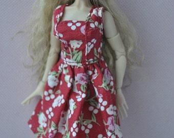 Handmade dress for 1/12 scale Zjakazumi dolls