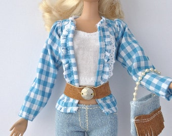 Beautiful handmade clothes for Barbie dolls
