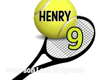 Tennis Birthday Shirt - Personalized - Monogram for Birthday Party Tee - Tennis Raquet - Tennis Court - Personalized Tennis Gift - Love Team